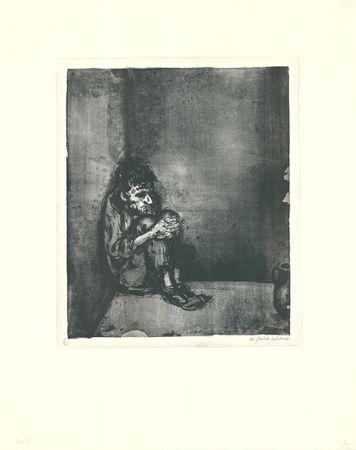 Litografia Weber - Der Gefangene (Der Blechnapf)