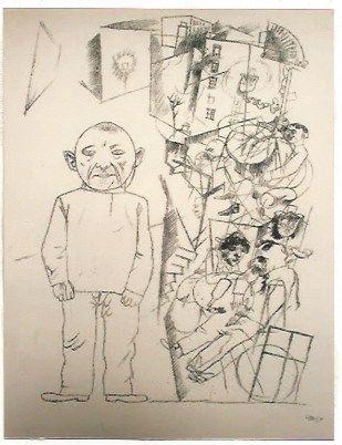 Litografia Grosz - Der zuchthausler (el convicto)