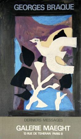 Litografia Braque - Derniers Messages Galerie Maeght