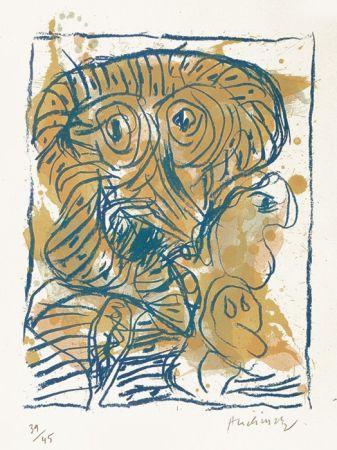 Litografia Alechinsky - Derniers pas