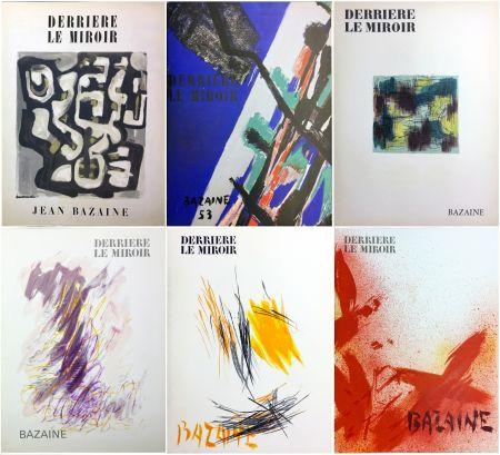 Libro Illustrato Bazaine - DERRIÈRE LE MIROIR. BAZAINE. Collection complète des 6 volumes de la revue DERRIÈRE LE MIROIR consacrés à Jean Bazaine (parus de 1949 à 1975).