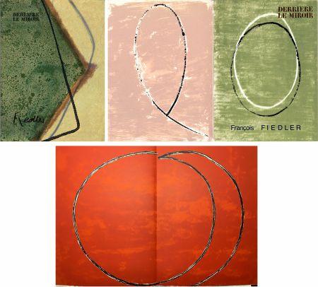 Libro Illustrato Fiedler - DERRIÈRE LE MIROIR: COLLECTION COMPLÈTE des 4 volumes de la revue  consacrés François Fiedler: 26 LITHOGRAPHIES ORIGINALES (de 1959 à 1974).