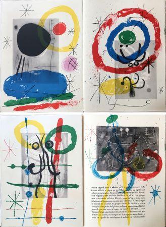 Libro Illustrato Miró - DERRIÈRE LE MIROIR N°151-152. MIRO. CARTONS. Mai 1965.