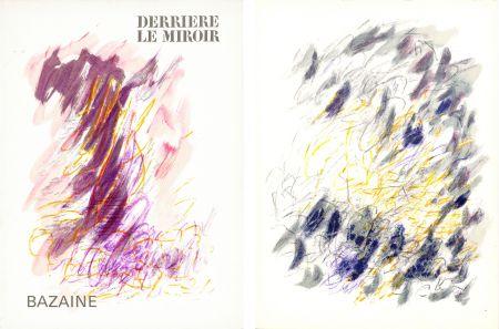 Libro Illustrato Bazaine - DERRIÈRE LE MIROIR N°170. Mars 1968. 6 LITHOGRAPHIES ORIGINALES EN COULEURS.