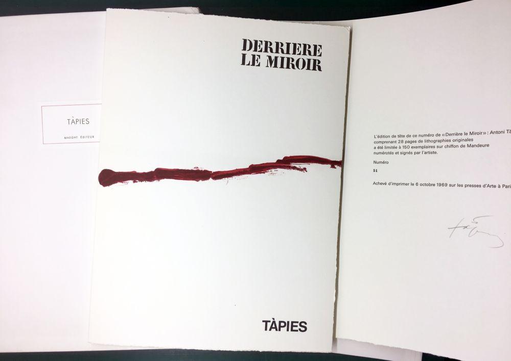 Libro Illustrato Tàpies - DERRIÈRE LE MIROIR n° 180 . TÀPIES . 1969. TIRAGE DE LUXE SIGNÉ.