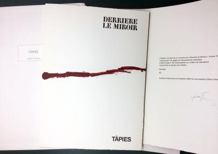Libro Illustrato Tapies - DERRIÈRE LE MIROIR n° 180 . TÀPIES . 1969. TIRAGE DE LUXE SIGNÉ.