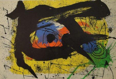 Litografia Miró - DERRIÈRE LE MIROIR, No 203. Miró.