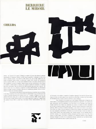 Libro Illustrato Chillida - Derrière le Miroir n° 143 . CHILLIDA . Avril 1964.