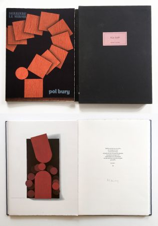 Libro Illustrato Bury - Derrière le Miroir n° 228. POL BURY. Mars 1978. TIRAGE DE LUXE SIGNÉ.