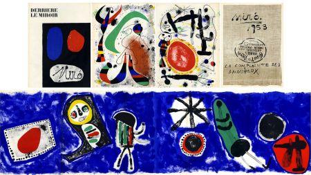 Litografia Miró - Derrière le Miroir n° 57-58-59. MIRO. Avec le spectaculaire et célèbre