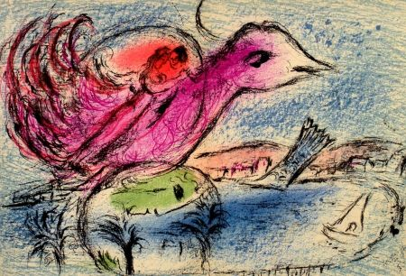 Libro Illustrato Chagall - Derriere le Miroir n. 132 Juin 1962