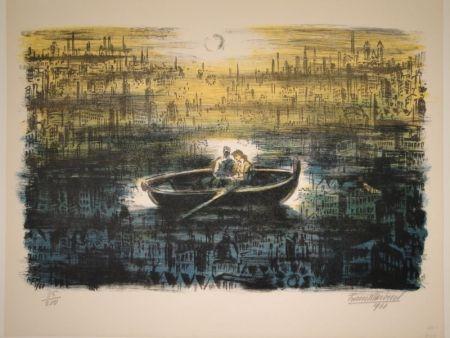 Litografia Masereel - Des amoureux