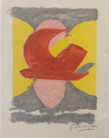 Litografia Braque - Descente aux enfers