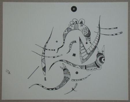 Litografia Kandinsky - Dessin à la plume, 1938