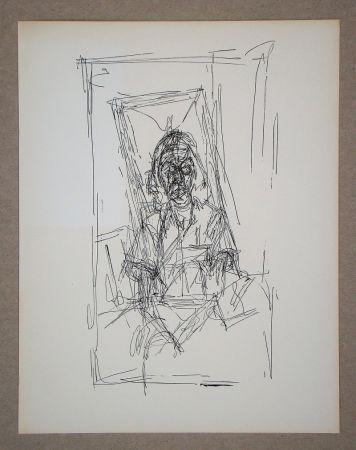 Litografia Giacometti - Dessin, 1954