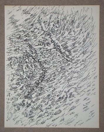 Litografia Michaux - Dessin, 1955