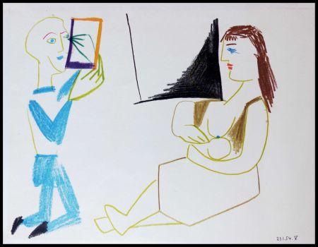 Litografia Picasso (After) - DESSINS DE VALLAURIS II
