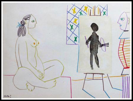 Litografia Picasso (After) - DESSINS DE VALLAURIS X