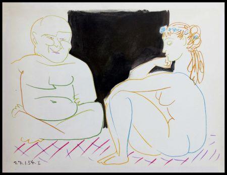 Litografia Picasso (After) - DESSINS DE VALLAURIS XI