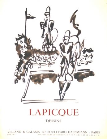 Litografia Lapicque - Dessins  Exposition Villand Galanis Paris