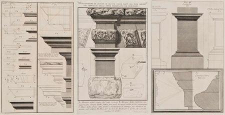 Incisione Piranesi - Detalles arquitectónicos