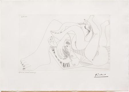 Incisione Picasso - Deux Femmes Batifolant