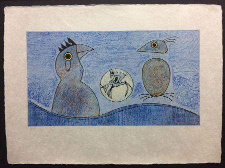 Litografia Ernst - Deux Oiseaux