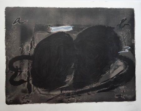 Litografia Tàpies - Deux Utrous