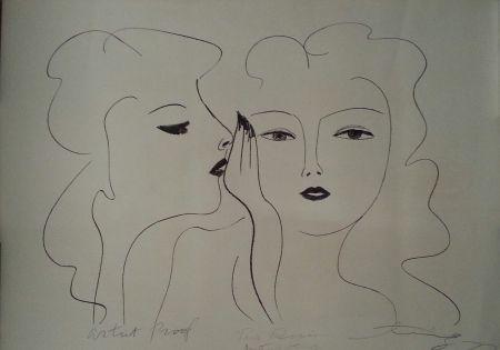 Litografia Ting - Deux Visages
