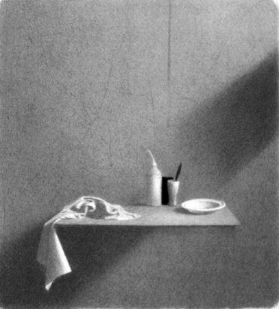 Litografia Ferroni - Diagonale d'ombra