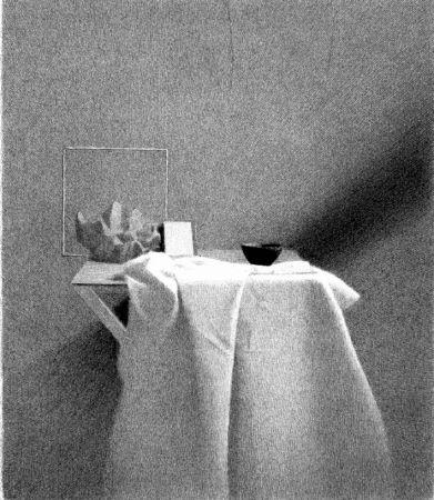 Litografia Ferroni - Diagonale d'ombra I