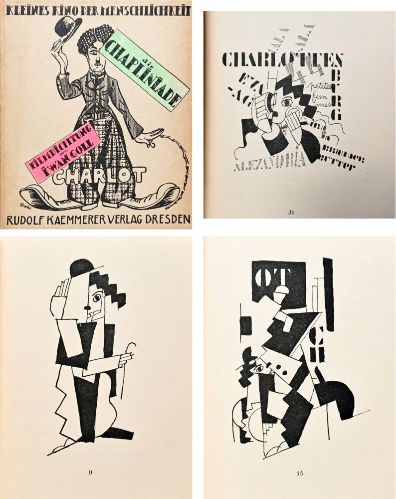 Libro Illustrato Leger - DIE CHAPLINIADE (Filmdictung von Iwan Goll) 1920..