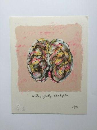 Litografia Matta - Digestion by the eye (from Morfolgie Verbali)