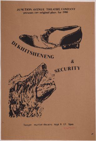 Serigrafia Kentridge - Dikhitsheneng & Security
