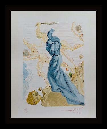 Incisione Su Legno Dali - Divine Comedy Hell Canto 19