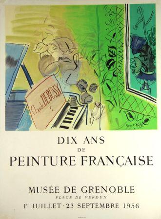 Litografia Dufy - Dix Ans de Peinture Française  Musée de Granoble