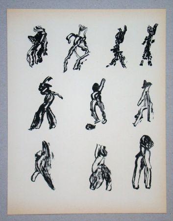 Litografia Michaux - Dix Figures