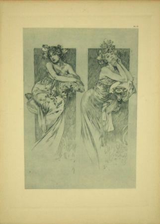 Litografia Mucha - Document Décoratif  Planche N°12
