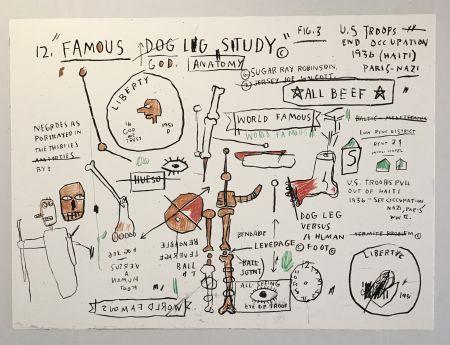 Serigrafia Basquiat - Dog Leg Study
