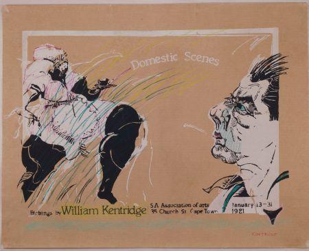 Serigrafia Kentridge - Domestic Scenes