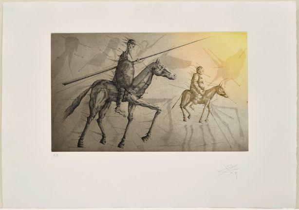 Acquaforte E Acquatinta Ponç -  Don Quichotte suivant Sancho, X