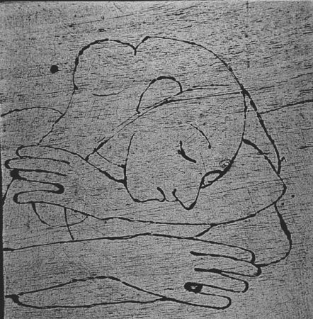 Incisione Su Legno Casorati - Donna che si riposa