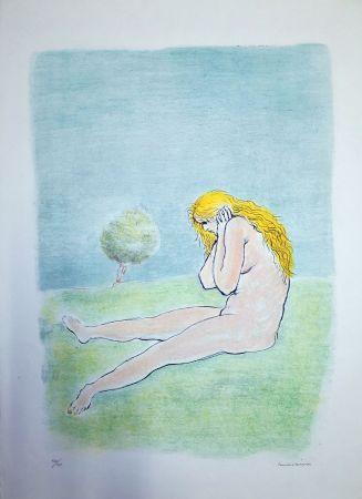 Litografia Messina - Donna seduta