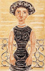Litografia Campigli - Donne al balcone
