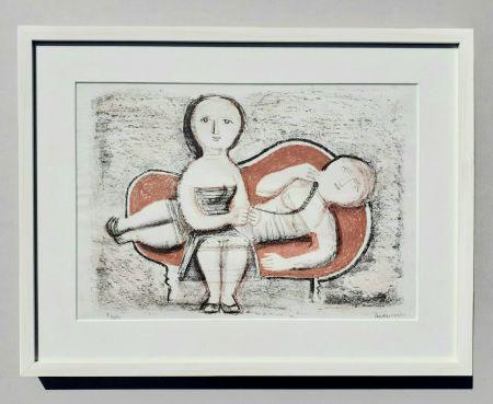 Litografia Campigli - Donne sul divano