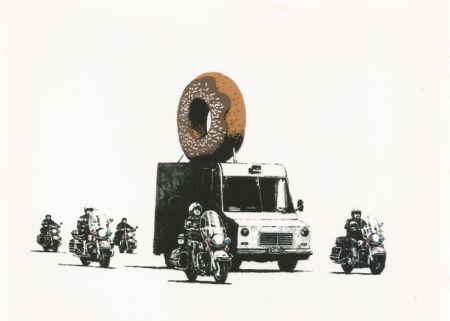 Serigrafia Banksy - Donut (brown)