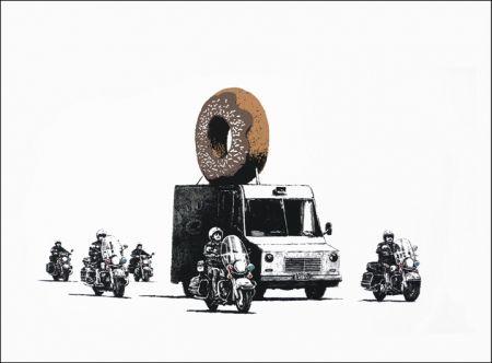 Serigrafia Banksy - Donuts (Chocolate)
