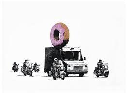 Serigrafia Banksy - Donuts (Strawberry)
