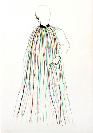 Litografia Dine - Dorian Gray in Multi-Colored Vinyl Stripe Cape