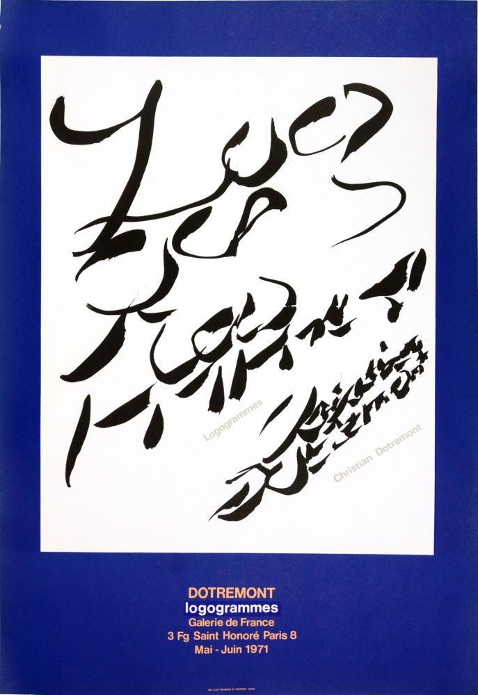 Manifesti Alechinsky - Dotremont, logogrammes, 1971